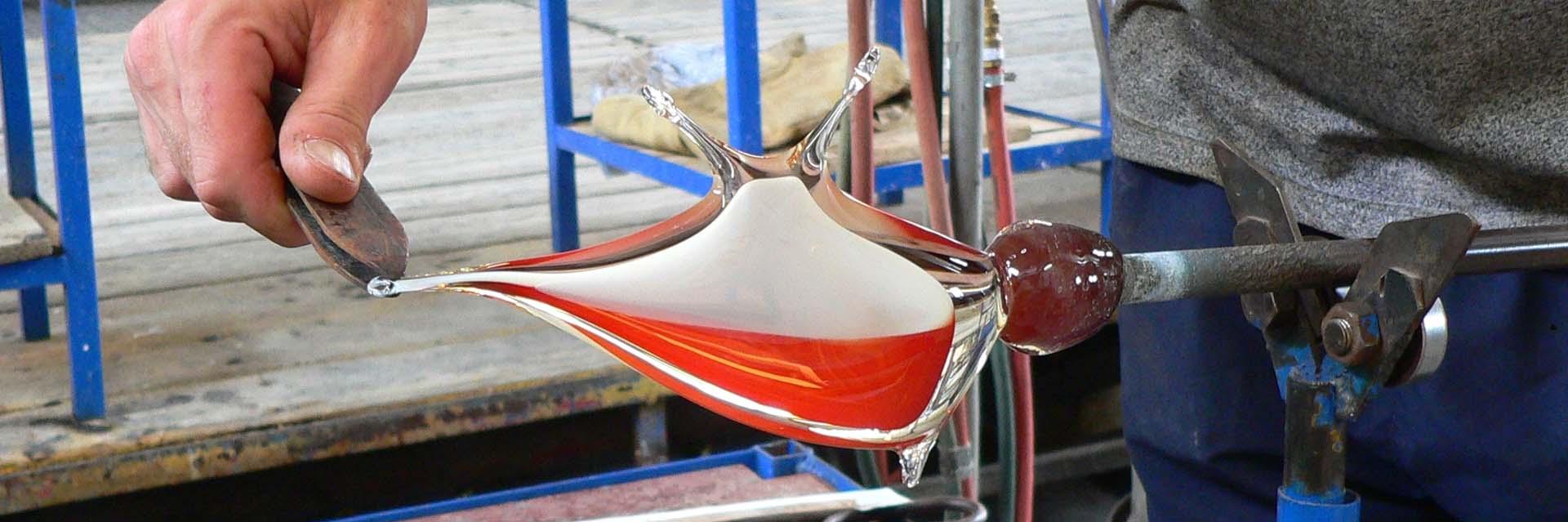 Ručně tvarované originální dárky ze skla.